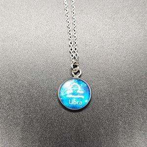 Libra Zodiac Astrology Circle Necklace